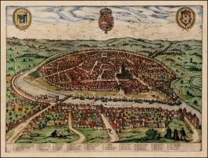 View of Seville, from Civitates Orbis Terrarum, 1572