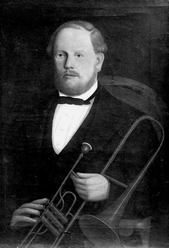valve trombone cabinet card