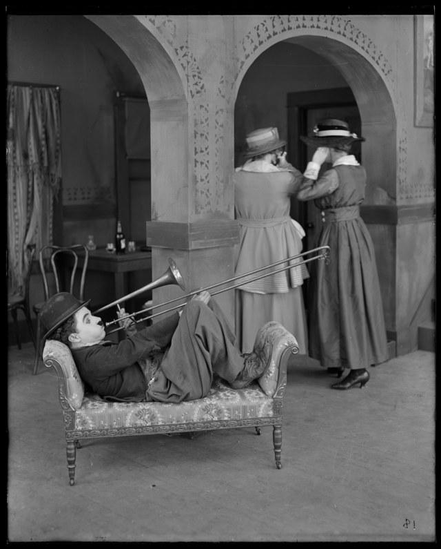chaplin trombone 1918