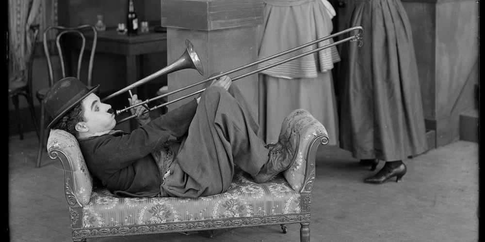 chaplin trombone detail 1918